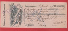 Chèque --  Fabrique De Clous Mécanique  --  Bainville Aux Miroirs  --  1899 - Cheques & Traveler's Cheques