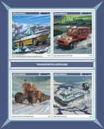 Mozambico 2017, Special Ice Transport, Boat, 4val In BF - Other Means Of Transport