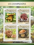 Djibouti - Postfris / MNH - Sheet Paddenstoelen 2017 - Djibouti (1977-...)