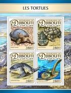 Djibouti - Postfris / MNH - Sheet Schildpadden 2017 - Djibouti (1977-...)