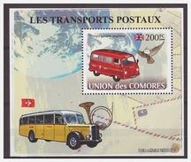 0044 Comores 2009 Motor-bus Postal Transport S/S MNH - Bussen