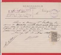 Mémorandum  --  Manufacture De Cuir à Nancy  --  31 Mai 1899 - Vieux Papiers