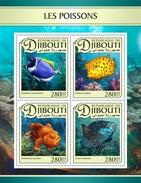 Djibouti - Postfris / MNH - Sheet Vissen 2017 - Djibouti (1977-...)