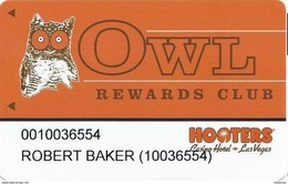 Hooters Casino - Las Vegas, NV - Slot Card