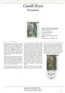 NOTICE PTT 1987 PRECAMBRIEN DE CAMILLE BRYEN - Documents Of Postal Services