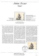 NOTICE PTT 1987 MONDE DE ANTOINE PEVSNER - Documents Of Postal Services