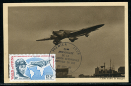 Wallis Et Futuna - Carte Maximum 1980 , Avion , Aéropostale - Maximum Cards