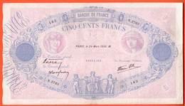 Billet - 500 Francs BLEU & ROSE Du 24 Mars 1938 TB+ - 500 F 1888-1940 ''Bleu Et Rose''