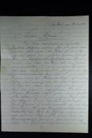 DR: Brief Mit V 1 + V 2 Im Text Erwähnt, Vonn Flotille Für Die Französische Küste 22-8-1944 - Deutschland
