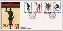 MALAWI - 1 6 1984   FDC GIOCHI OLIMPICI