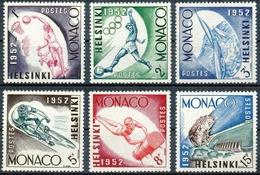 Monaco N° 386/91 - Jeux Olympique D'Helsinki 1952 Tp De 1953 Série Compléte & Tp Cote 7.25 €