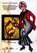 CPM Salon Pirate Wichita 1988 Cléo De Mérode Tirage Limité à 30 Exemplaires Numérotés Signés - Bourses & Salons De Collections