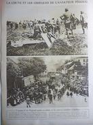 Militaria W1 , La Chute Et Les Obséques De L'aviateurs Pégoud , A Belfort 1915 - Documents Historiques