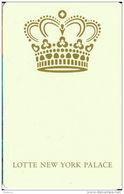 Lotte New York Palace Hotel - RFID Room Key Card - Hotel Keycards
