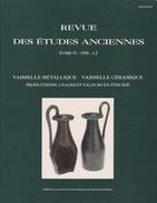 REVUE DES ÉTUDES ANCIENNES TOME 97-1995-1-2 DE JANNOT ED. CNRS