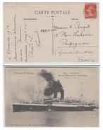 FRANCE--MESSAGERIES MARITIMES--1913 --PAQUEBOT SS KARNAK --CP D4ALEXANDRIE-- MARQUE PAQUEBOT-- - Poststempel (Briefe)