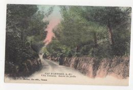 Cap D'Antibes Villa Eilenroc Entree Du Jardin Vintage Postcard France 056a - France