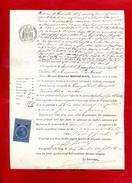 Facture Le 3 Avril 1885 Huissier Mr Bouscary Tribunal Cahors St Géry  1 Timbre Fiscal De Dimension   Dossier Factures 2 - Fiscali
