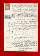 Facture Le 1/5/1912  Constans Villeneuve Sur Lot 2 Timbres Fiscaux  De Dimension Et De Copie   Dossier Factures 2 - Fiscali