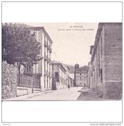 SGVTPA1916CPA-LFTD9009THOT.Tarjeta Postal DE SEGOVIA.Edificios,casas,arboles.HOTEL VEGA Y CALLE DEL HORNO En LA GRANJA - Hoteles & Restaurantes
