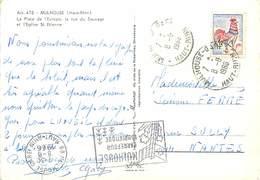 C-17.165 : MULHOUSE CACHETS DIFFERENTS MEME DATE - Curiosidades: 1960-69 Cartas