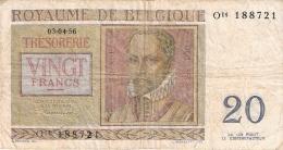 BELGIQUE   20 Francs   3/4/1956   P. 132b - [ 2] 1831-... : Belgian Kingdom