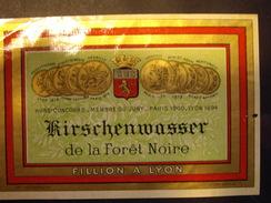KIRSCHENWASSER  De La Foret Noire  -FILLION A LYON Année  1905+- - Autres Bouteilles