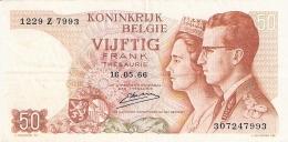 BELGIQUE   50 Francs   16/5/1966   P. 139 - Unclassified