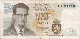 BELGIQUE   20 Francs   15/6/1964   P. 138 - Unclassified