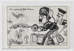CPA Zeppelin Aviation Satirique Caricature Guerre 14-18 Patriotique Germany Kaiser Non Circulé - Satirical