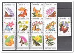 Grenada 1994, Postfris MNH, Flowers, Butterflies - Grenada (1974-...)