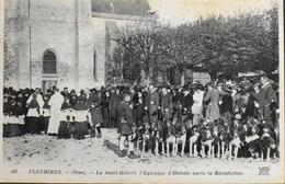 CPA. - FRANCE - Fleurines Est Situé Dans Le Départ. De L'Oise - La Ste-Hubert L'Equipage D'Halatte Aprés La Bénédiction - Autres Communes