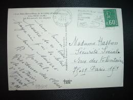 CP TP MARIANNE DE BEQUET 0,60 GRAVE De Carnet OBL;MEC.8-4-1975 BEAULIEU SUR MER (06 ALPES-MARITIMES) - 1971-76 Marianne Of Béquet