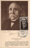 France. Carte Maximum. Clemenceau. Paris. 11/11/1951 - 1950-59
