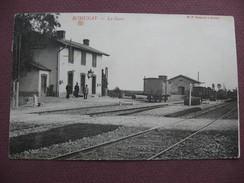 CPA 71 ROMENAY La Gare Vue Intérieure Avec WAGON & EMPLOYES SNCF ANIMEE  1906 Canton CUISEAUX - Otros Municipios