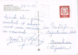 23688. Postal HAMBURG (Alemania Federal) 1962. Stamp BACH - BRD