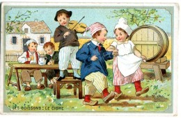 Chicorée De La Belle Jardinière - Les Boissons - Le Cidre - Danse Sur Un Air De Violon - Chromos