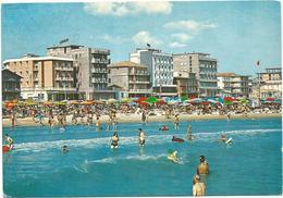 V248 Bellaria (Rimini) - Panorama Della Spiaggia - Beach Plage Strand Playa / Viaggiata 1972 - Italie