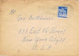 23689. Carta BRAUNSCHWEIG (Alemania Zona Anglo Americana) 1950 - Zona Anglo-Américan