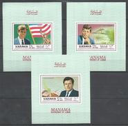 MANAMA - MNH - Famous People - John - Edward - Robert Kennedy