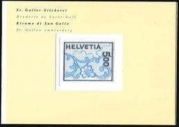 Svizzera/Suisse/Switzerland: Ricamo Di San Gallo, St. Gallen Embroidery, Saint-Gall Broderie - Tessili