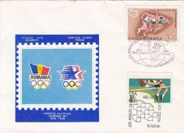OLYMPIC GAMES, LOS ANGELES'84, JOINT ISSUE SPECIAL COVER, 1984, USA-ROMANIA