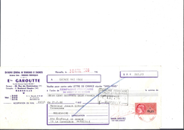 Ref 26/ 13, Marseille, Garoutte, Verreries Et Faiences, 1966,  Pour Roquevaire 13 - Banque & Assurance