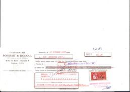 Ref 26/ 13, Marseille, Bonifait Et Hodoul, Cartonnerie, 1967,  Pour Roquevaire 13 - Banque & Assurance