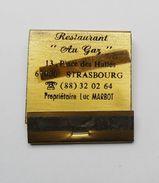 Pochette D'allumettes Restaurant Au Gaz Strasbourg