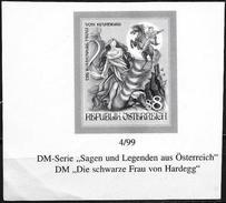 Austria/Autriche: Prova Per La Stampa, Proof For Printing, épreuve Pour L'impression, La Donna Nera Di Hardegg, La Femme - Fiabe, Racconti Popolari & Leggende