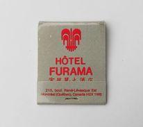 Pochette D'allumettes Hotel Furama Québec Montréal