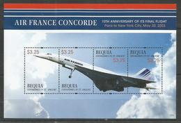 BEQUIA - MNH - Transport - Conorde - Air France Concorde - Concorde
