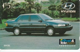 TARJETA DE LAS FIJI DE UN COCHE HYUNDAI (CAR) - Figi