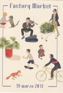 Cartellino -pubblicitario. Bergamo - Targhe Di Cartone